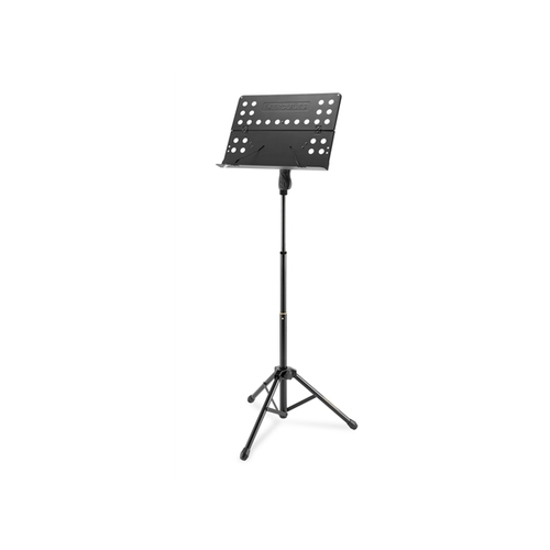 Hercules : BS418B: Music stand w/ perforated foldable desk