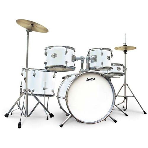 Ashton Joeydrum White Junior Drumkit