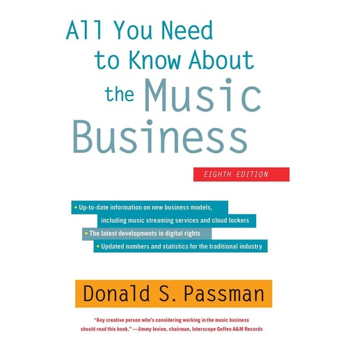 All You Need To Know About The Music Business 8T (Hardcover Book)