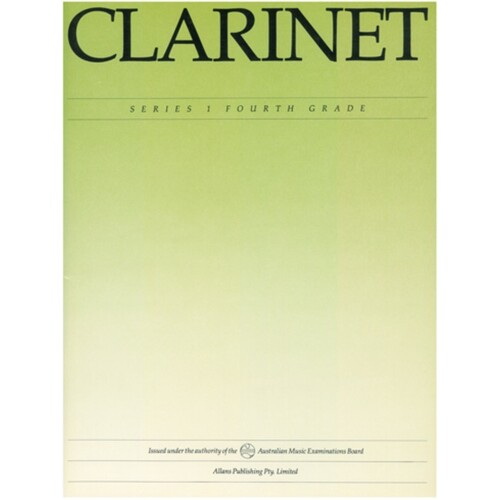 AMEB Clarinet Grade 4 Series 1 (Softcover Book)