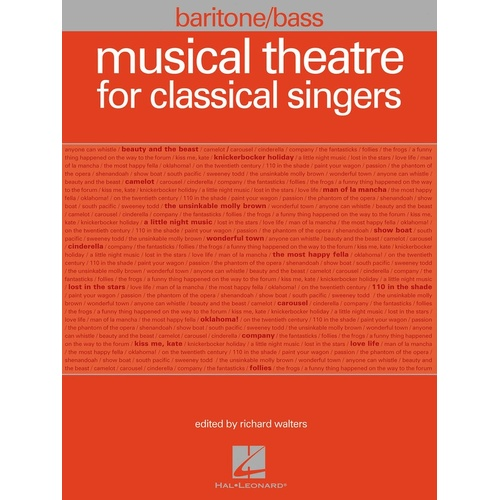 Musical Theatre For Classical Singers Bar Bass (Softcover Book)