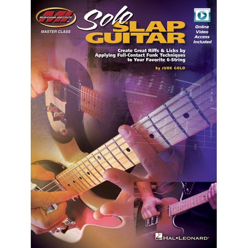 Solo Slap Guitar Book/Olv (Softcover Book/Online Video)