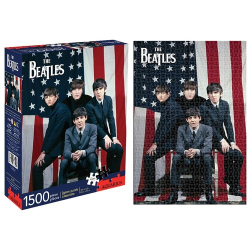 Beatles Usa 1500 Piece Jigsaw Puzzle (Package)