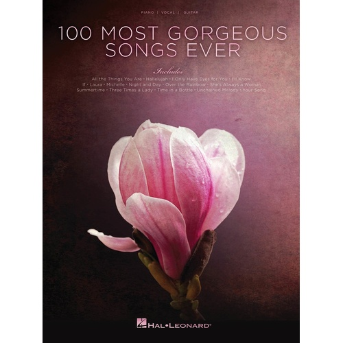 100 Most Gorgeous Songs Ever PVG (Softcover Book)