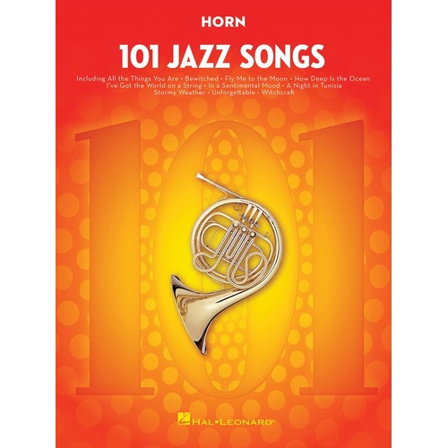 101 Jazz Songs For Horn (Softcover Book)