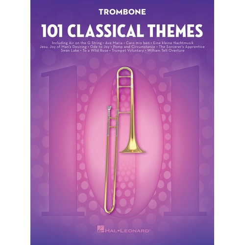 101 Classical Themes For Trombone (Softcover Book)
