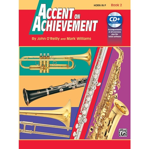 Accent On Achievement Book 2 Horn In F Book/CD