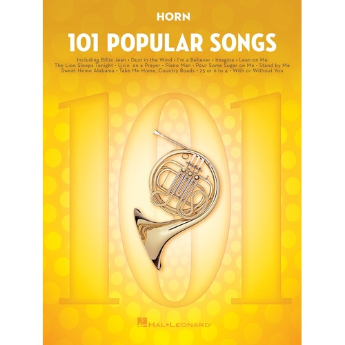 101 Popular Songs For Horn (Softcover Book)