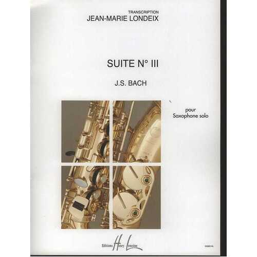 Suite No 3 Arr Londeix Alto Or Tenor Sax Solo (Softcover Book)