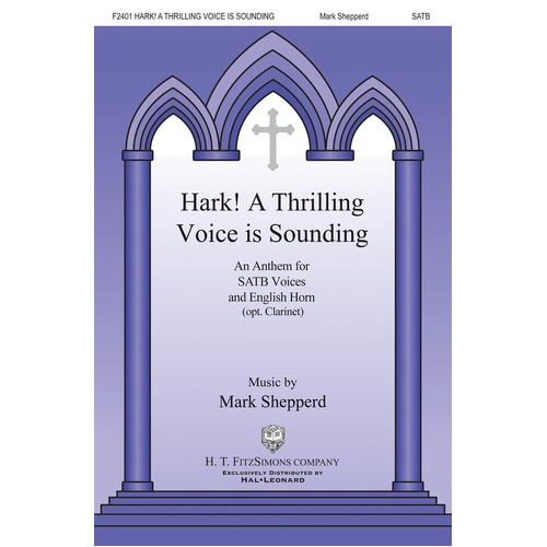 Hark! A Thrilling Voice Is Sounding SATB/Cor Anglais (Octavo)