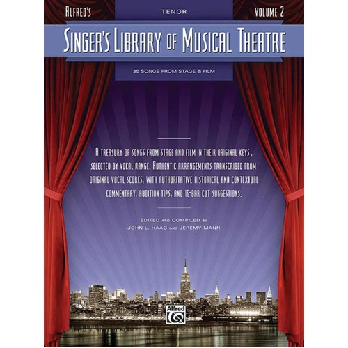 Singers Library Of Musical Theatre V2 Tenor (Softcover Book)