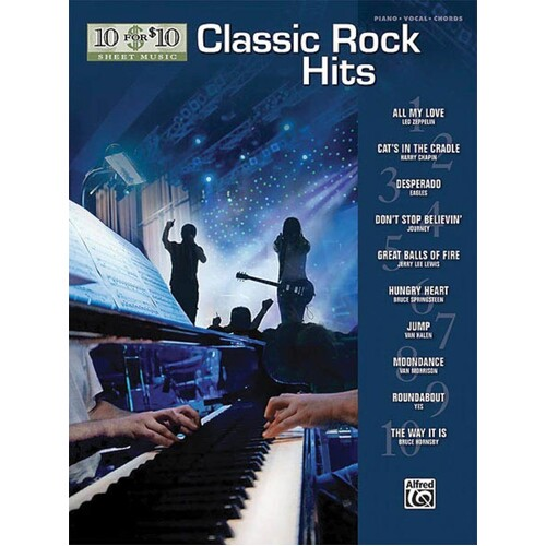 10 For 10 Classic Rock PVG (Softcover Book)