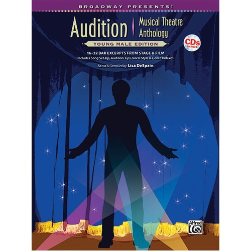 Audition Musical Theatre Anth Young Male Book/CD (Softcover Book/CD)