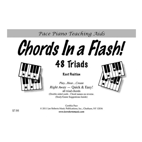 Chords In A Flash Piano Flashcards (Softcover Book)