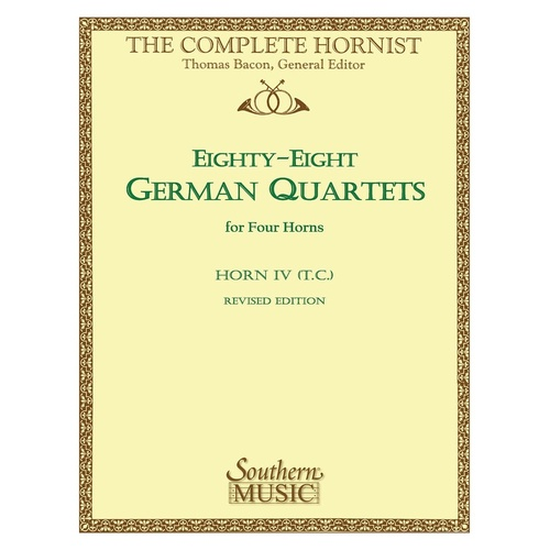 88 German Quartets Horn 4 T.C. (Softcover Book)