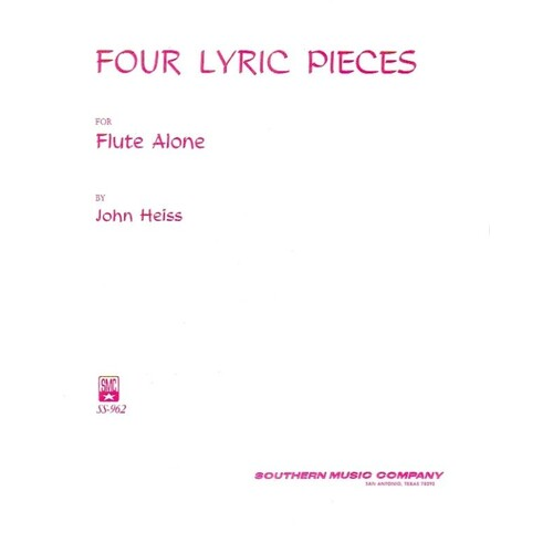 Four Lyric Pieces Flute Solo (Softcover Book)