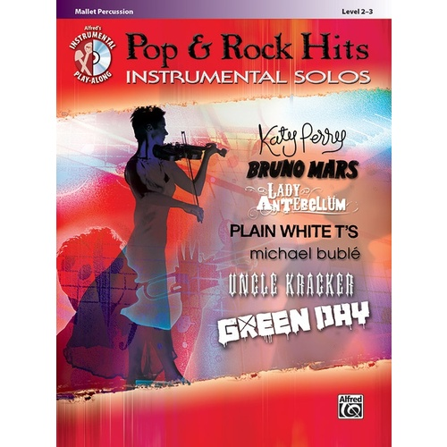 Pop & Rock Hits Inst Solos Mallet Book/CD