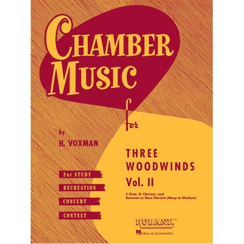Chamber Music For 3 Woodwind Vol 2 Flu/Oboe/Cla (Softcover Book)