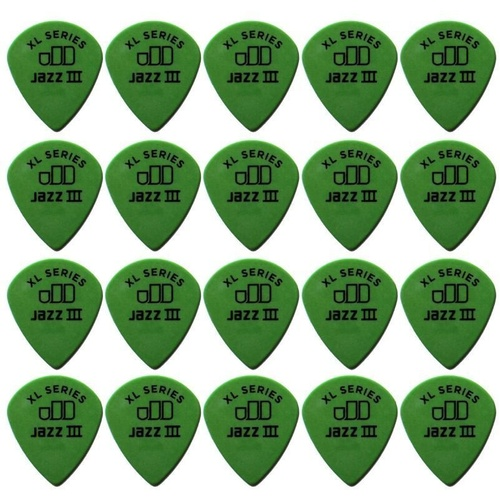 20 x Jim Dunlop Tortex Jazz 3 XL Green .88mm Guitar Picks III Free Post