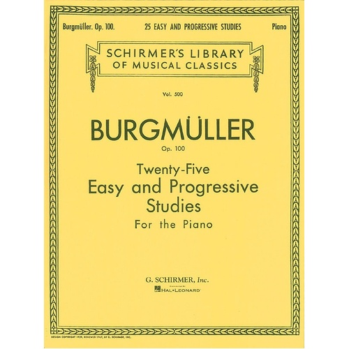 Burgmuller - 25 Studies Op 100 For Piano (Softcover Book)
