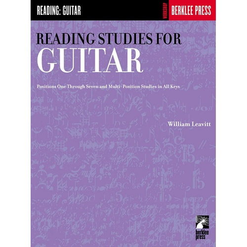 Reading Studies For Guitar (Softcover Book)