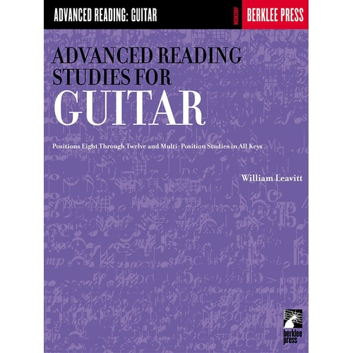 Advanced Reading Studies For Guitar (Softcover Book)