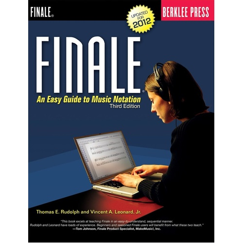 Finale An Easy Guide To Music Notation (Softcover Book)
