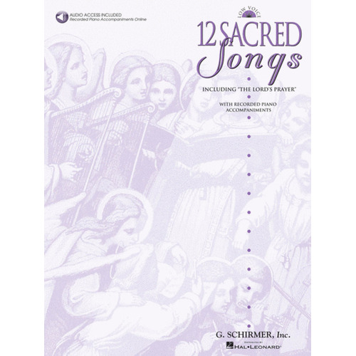 12 Sacred Songs Low Voice Book/CD