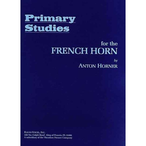 Horner - Primary Studies For French Horn Book