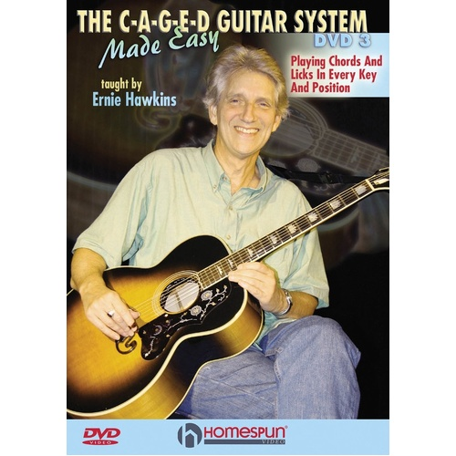 C-A-G-E-D Guitar System Made Easy DVDs 1, 2 and 3 (DVD Only)