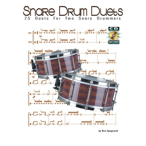 25 Duets For Snare Drum Book/CD (Softcover Book/CD)