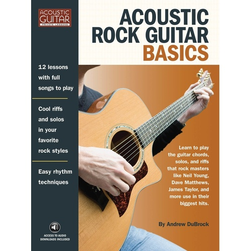 Acoustic Rock Guitar Basics (Softcover Book)