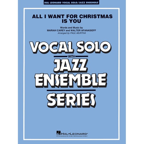 All I Want For Christmas Is You VocJunior Ensemble 3-4 Score/Parts