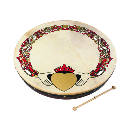 Waltons 12 Inch Claddagh Bodhran with DVD Tutor