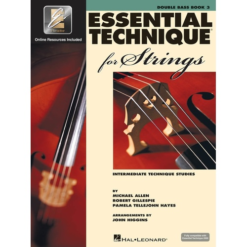 Essential Technique For Strings Book 3 Double Bass Eei (Softcover Book/Online Audio)