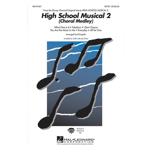 High School Musical 2 (Choral Medley) ShowTrax CD (CD Only)