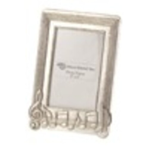 Photo Frame Pewter Music Notes