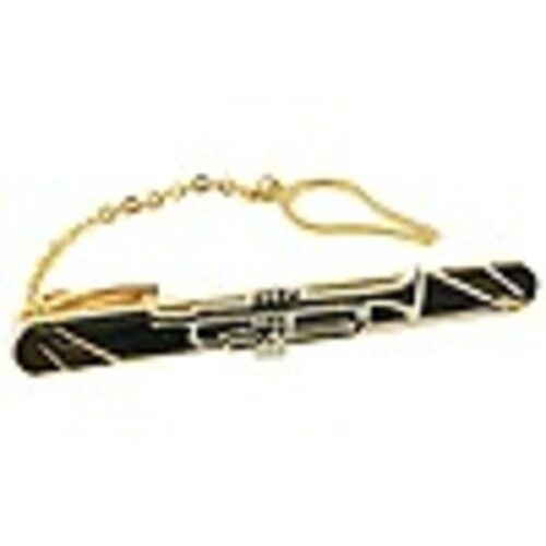 Tie Bar Small Trumpet 18kt Gold Ep 2 Tone