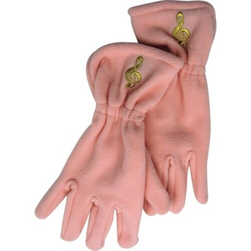 Fleece Gloves G Clef Pink Small / Medium