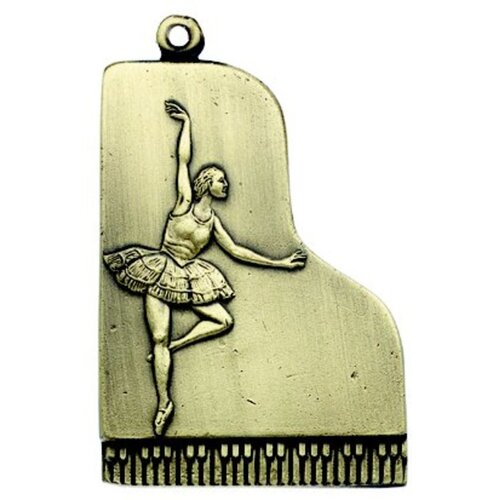 Keychain Ballet Dancer Antique Brass