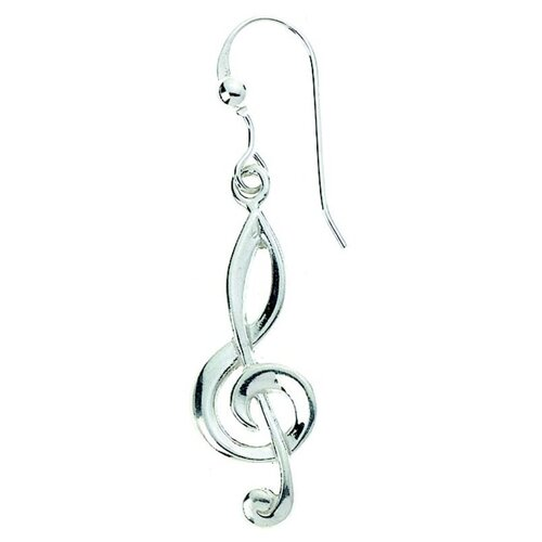 Sterling Silver Earring G Clef
