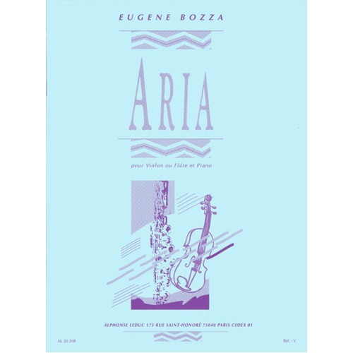 Aria For Flute Or Violin (Softcover Book)