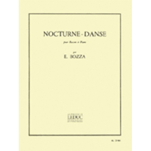 Bozza - Nocturne Dance For Bassoon/Piano (Softcover Book)