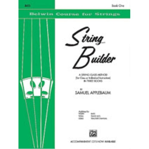 String Builder Book 1 Double Bass (Softcover Book)