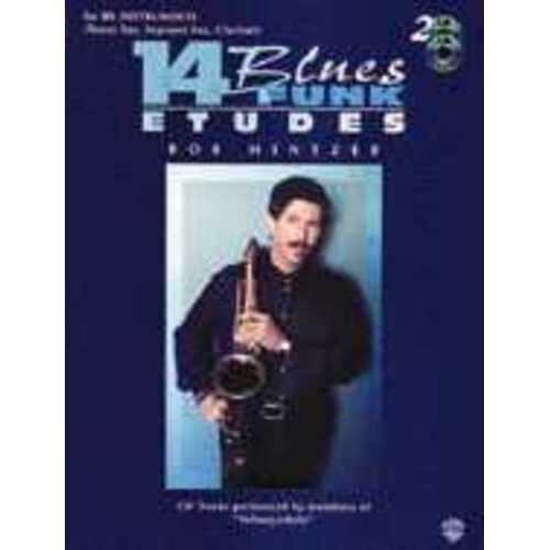 Blues Funk Etudes 14 B Flat Tenor Sax Softcover Book/CD