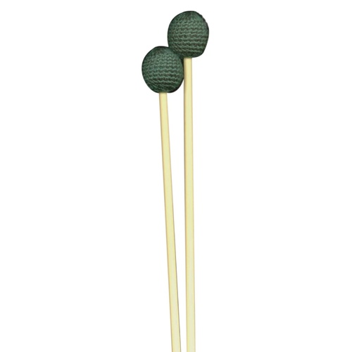Xylophone / Metallophone Mallet Pair Medium Head Green Yarn Beater