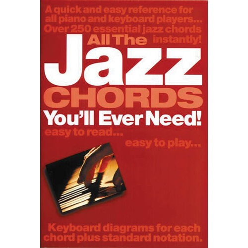 All The Jazz Chords You'll Ever Need (Softcover Book)