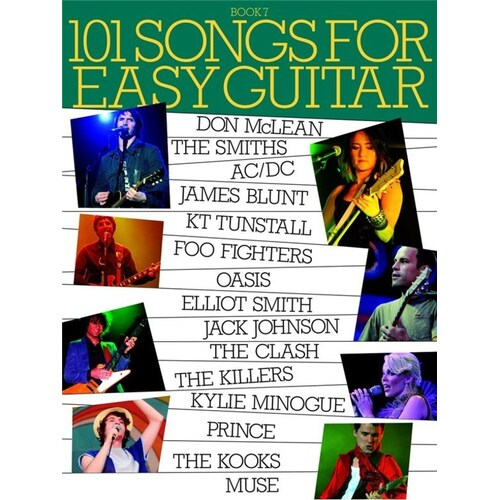 101 Songs Easy Guitar Book 7 Sheet Music Chords *New* Beginners Book