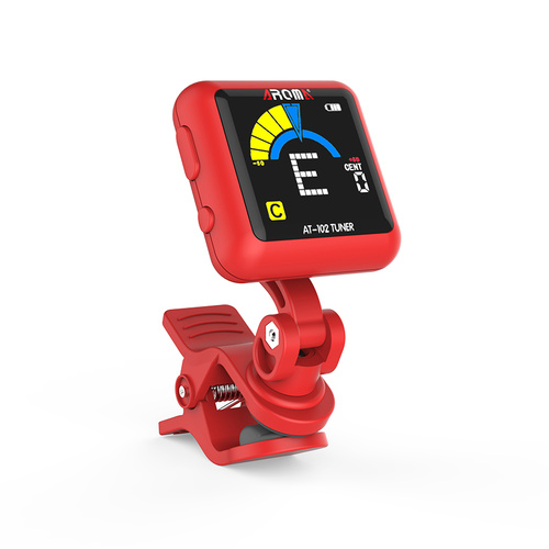 Aroma AT102RD  Rechargable Chromatic Clip-on Tuner Red