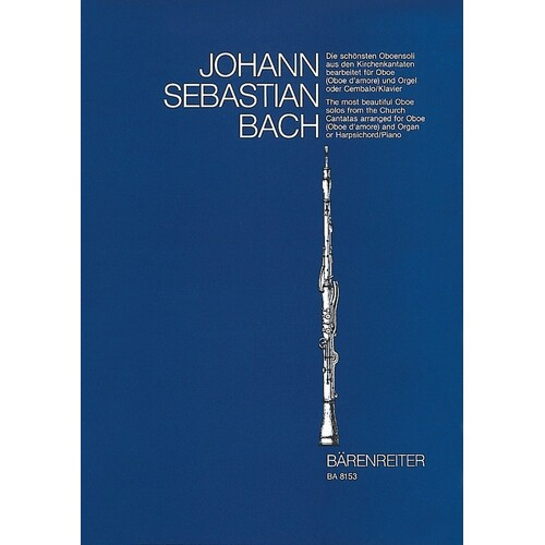 Bach - Most Beautiful Solos Church Cantatas Oboe/Piano (Softcover Book) Book